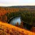 Spokane fluss Lizenzfreies Stockfoto