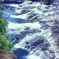 Spokane river beautiful scenery landscape Royalty Free Stock Photo