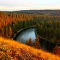 Spokane river sunset gorgeous landscape Royalty Free Stock Photo