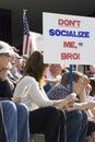 Spokane tea party rally. Stock Photo