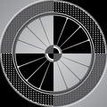Spoke wheel abstract illustration of checker plates Royalty Free Stock Photo