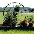 Spoked Wheel Garden Decoration