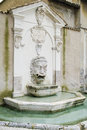 Spoleto the mascherone fountain in piazza campello in Stock Photo