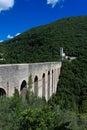 Spoleto, Ponte delle Torri Royalty-vrije Stock Afbeelding
