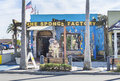 The sponge factory located at docks in tarpon springs florida is a large retail store selling various related Stock Photos