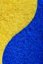 Sponge texture blue and yellow background Stock Images