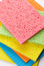 Sponges cleaning isolated on white background Stock Image