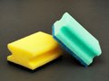 Sponges colorful son a dark background Royalty Free Stock Photography