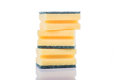 Sponges stack of cleaning on a white background Stock Photography