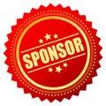 Sponsor badge Royalty Free Stock Photo