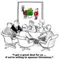 Sponsor Christmas Royalty Free Stock Photo