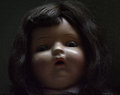 Spooky antique doll creepy vintage with lighting Royalty Free Stock Images