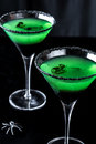 Spooky Apple Martinis Royalty Free Stock Photo