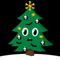 Spooky Christmas tree with Halloween decorations