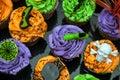 Picture : Spooky Halloween Cupcakes  moonlight