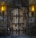 Spooky Door Royalty Free Stock Photo