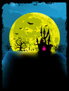 Spooky halloween background. EPS 8 Royalty Free Stock Photos