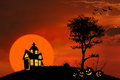 Spooky house Stock Image