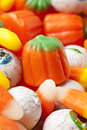Spooky Orange Halloween Candy Stock Photo
