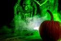 Spooky Pumpkin Royalty Free Stock Photo
