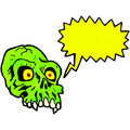 Spooky shrieking skull cartoon Stock Images