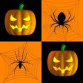 Spooky Squares Halloween Card or Background Royalty Free Stock Images
