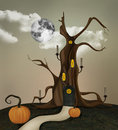 The spooky tree Royalty Free Stock Image