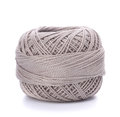 Spool of grey thread isolated on white background Stock Photo