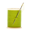Spool of thread and needle Royalty Free Stock Photo