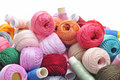 Spools and balls of yarn Royalty Free Stock Photography