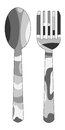 Spoon fork military camouflage pattern