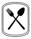 Spoon and fork silhouette Stock Photos