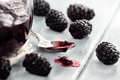 Spoonful of Blackberry Jam Royalty Free Stock Photo