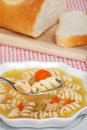 Spoonful Of Chicken Pasta Soup Royalty Free Stock Images