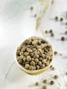 Spoonful of peppercorns Royalty Free Stock Photos