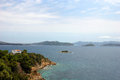 Sporades islands greece beautiful view of group of Stock Images