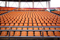 Sport arena seats Royalty Free Stock Photo
