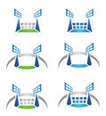 Sport arena or stadium logo Royalty Free Stock Image