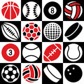 Sport Ball Checkerboard Royalty Free Stock Photo
