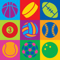 Sport Ball Pop Art Royalty Free Stock Photo