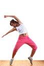 Sport ballet dancer in ballroom Royalty Free Stock Photo