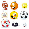 Sport balls cartoon Royalty Free Stock Photography