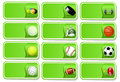 Sport balls icon set Stock Image