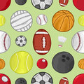 Sport balls pattern vector illustration of a seamless background Stock Photo