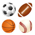 Sport balls realistic set of illustration Stock Photos