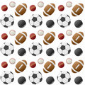 Sport Balls Seamless Pattern [1] Royalty Free Stock Photo