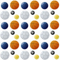 Sport Balls Seamless Pattern [2] Royalty Free Stock Photo