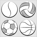 Sport balls set Royalty Free Stock Image