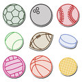 Sport balls set of ball icons Royalty Free Stock Photo
