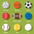 Sport balls set Royalty Free Stock Photo